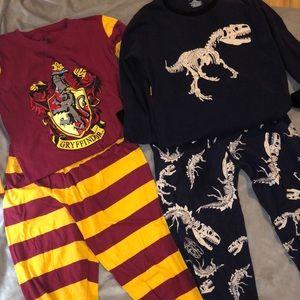 Two piece long sleeve pajama set size 10/12